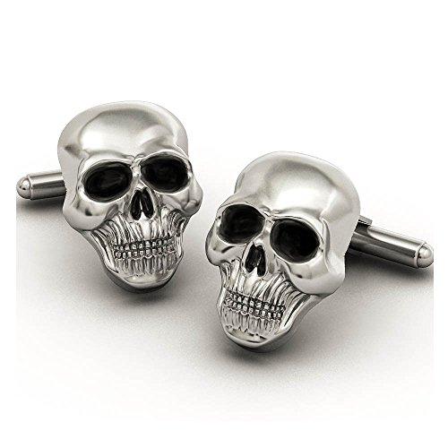 EVBEA Mens Skull Cufflinks Cool Stylish Unique Pirate Skeleton Cross Cufflinks Set