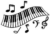 JS Artworks Piano Keys Vinyl Wall Art Decal Sticker