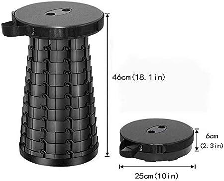 Belastung 397 lb FIEMACH Tragbarer Klapphocker Zweiten Generation Mini Teleskophocker Leichte Campinghocker f/ür Outdoor Camping Angeln BBQ Drinnen K/üche 2020 Upgrade
