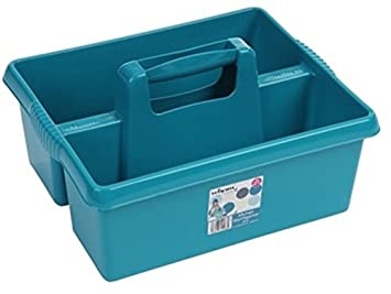 Nice Large Kitchen Tidy Organiser Tool Caddy Storage Box With Handle Strong  Plastic   TEAL