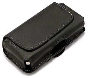 """""""Líder"""" Negro, Lujoso estuche billetera de sintética cuero con cinturón con clip para Samsung T759. Auténtica Funda / Carcasa / Cubierta para teléfonos móviles."""