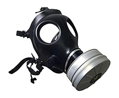 Israeli Rubber Respirator Mask NBC Protection w/Premium Aluminum Mask 40mm FILTER canister For Industrial Use, Chemical Handling, Painting, Welding, Prepping, Emergency Preparedness KYNG TACTICAL