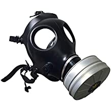Israeli Rubber Respirator Mask NBC Protection w/Premium Aluminum Gas Mask 40mm FILTER canister For Industrial Use, Chemical Handling, Painting, Welding, Prepping, Emergency Preparedness KYNG TACTICAL