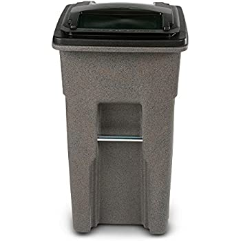Amazon Com Toter 32 Gal Wheeled Graystone Trash Can Home Kitchen