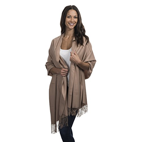 Cashmere & Class Large Soft Cashmere Scarf Wrap - Womens Winter Shawl + Gift Box - Cashmere Wrap Sweater