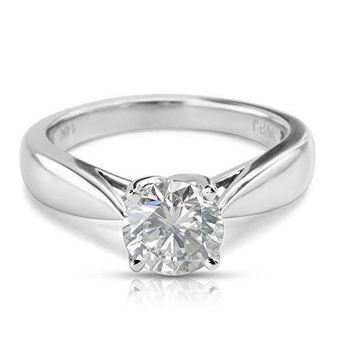 BRAND NEW IGL Certified Solitaire Diamond Engagement Ring 14K WG (0.97 CTW) by Loved Luxuries