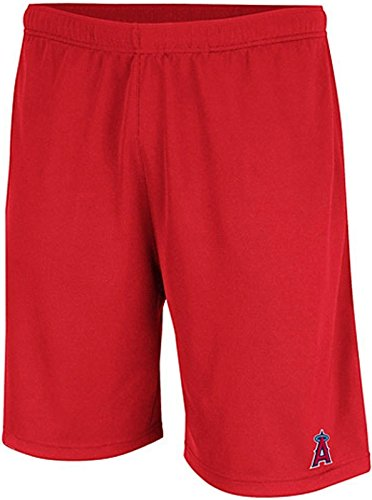 VF Los Angeles Angels MLB Mens Majestic Crossbar Synthetic Shorts Red Big Sizes (5XL)