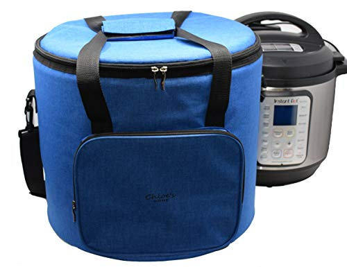 Chloe's Home Travel Bag for Instant Pot (8QT Royal Blue) - Versatile Tote Bag For Small Appliances & More With Carrying Strap, Handles & External Zip Pocket- Instant Pot Accessories For Traveling (Insta Totes)