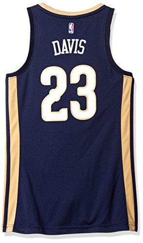 NBA Women's New Orleans Pelicans Anthony Davis Replica Player Away Jersey, Small, Navy