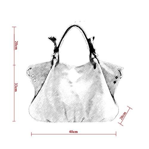 Viola 01 impermeabile in da a CLOA0017 WITERY tela grande capacità donna Borsa borsa Cachi viola stile tracolla p1nOZqw