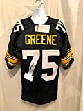 Joe Greene Pittsburgh Steelers Signed Autograph Black Custom Jersey HOF Inscribed JSA Witnessed Certified