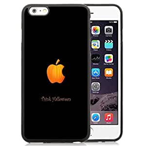NEW Unique Custom Designed iPhone 6 Plus 5.5 Inch Phone Case With Think Halloween Apple Logo_Black Phone Case