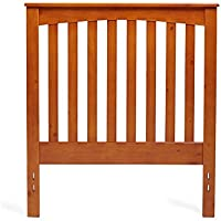 Mantua Golden Oak Rake Style Wood Headboard – Easy to Assemble Headboard for Full and Queen Beds, Dress Up your Bedroom – Model HB45-RO