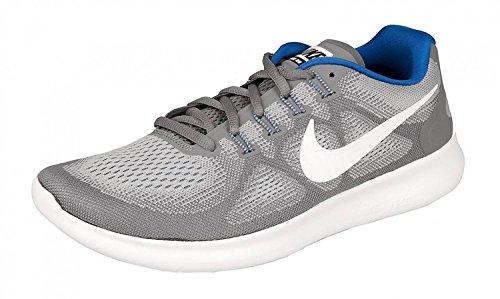 Nike Heren Gratis Rn 2017 Loopschoenen (grijs / Wit / Blauw, 12 D (m) Us)