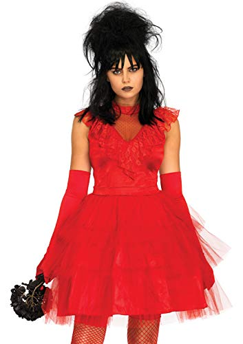 Leg Avenue Womens Lydia Beetle Bride 80s Halloween Costume, Red, -