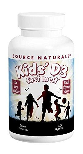 SOURCE NATURALS Kids' D-3 400 IU Fast Melt, 100 Count