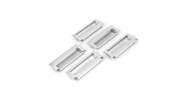 DealMux rectangular uñeros del gabinete del cajón del armario correderas manija de la puerta 5 piezas: Amazon.es: Bricolaje y herramientas