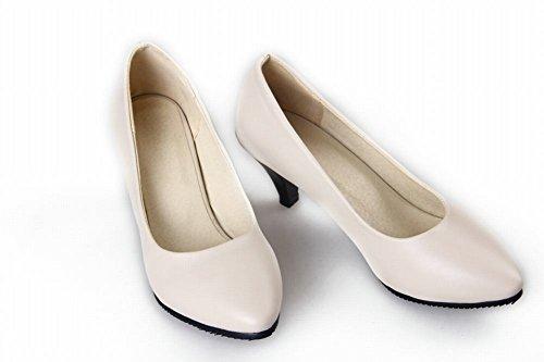 Stiletto Beige Shoes Carol Bone Concise Women's Court Mid Pumps Shoes Elegant heel UP4qYwA