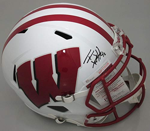 Tj Watt Autographed Full Size Replica Riddell Helmet Signed - Steelers - JSA Certified (Riddell Wisconsin Badgers Replica Helmet)