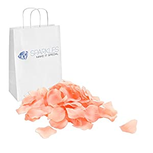 Sparkles Make It Special 900-pcs Rose Petals Faux Silk Flower Peach 107