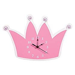 Trend Lab Tiara Wall Clock, Pink