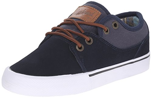 Globe Boys' Mahalo-Kids-K, Navy/Plaid, 5 M US Big