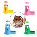 quiet guinea pig water bottle - Pet Water Bottle,NNDA CO 3 in 1 Pet Hamster Water Bottle Food Container Drinking Feeding Rest 80ml New (pink)