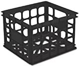 Sterilite 16929006 Storage Crate, Black, 6-Pack