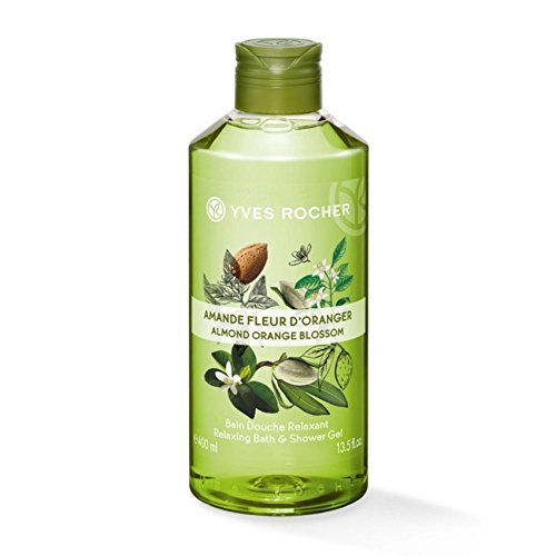Yves Rocher Relaxing Almond Orange Blossom Shower Gel 400ml (Orange Blossom Gel Perfume)
