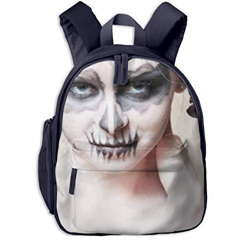 gewespe Halloween-Zombie Bride Makeup Girl Children School Bag Book Backpack Outdoor Travel Pocket Double Zipper -