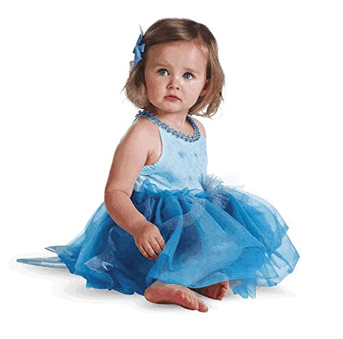 [Disguise Baby Girl's Disney Ariel Prestige Costume, Blue Green, 6-12 Months] (Ariel Blue Dress Costumes)