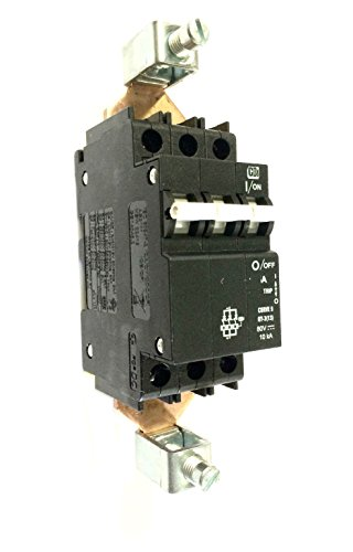 Control Circuit Breaker (SHAMROCK CONTROLS QY389125 Circuit Breaker, QY Series, UL489A, Curve 9, DC Voltage, 3 Pole, 125)