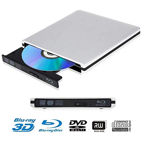 External 4K 3D Blu Ray DVD Drive, Portable USB 3.0 Blu Ray DVD Player Reader Disk for Mac OS, Windows 7/8/10,Linxus, Laptop