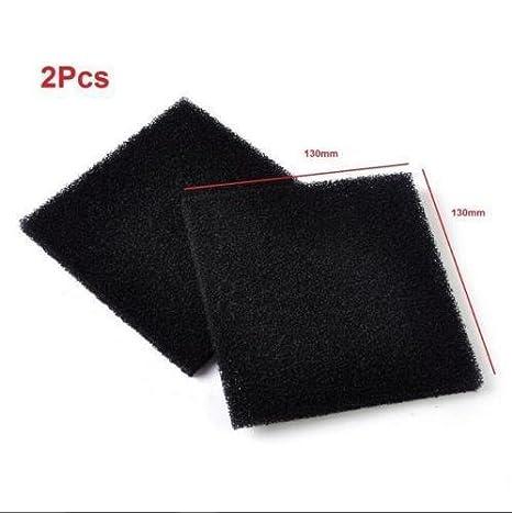 2 x almohadillas de filtro de espuma de carbón activadas universales de color negro: Amazon.es: Productos para mascotas