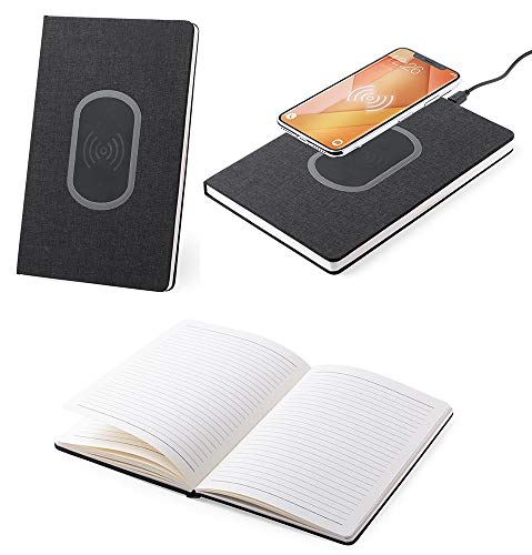 eBuyGB Wireless Phone Charging A5 Lined Notebook - Hardback 80 Page Diary Journal