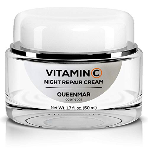 Vitamin C Night Cream Moisturizer | Natural Revitalizing Anti-Aging Face Cream & Nighttime Moisturizer for Face | Light, Fragrance Free, 1.7 fl.oz (50ml) | Natural Anti-Aging Skin Care
