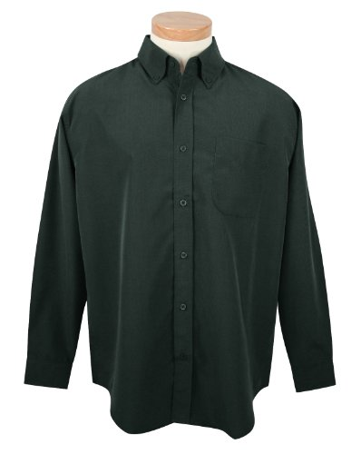 Long Sleeve Wrinkle Resistant Shirt with Mini-Houndstooth - Wrinkle Mini Resistant