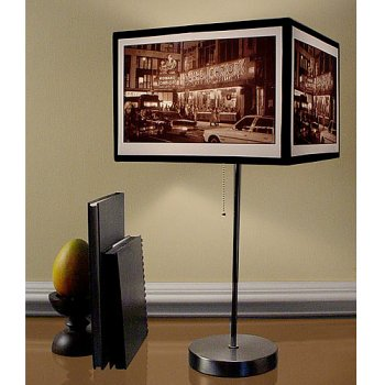 Contemporary Photographic Art Table Lamp - Times Square
