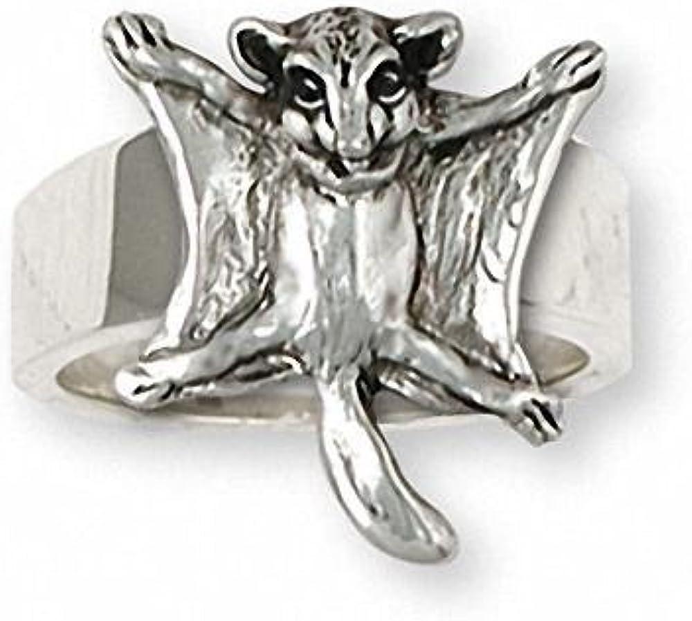 Sugar Glider Jewelry Sterling Silver Sugar Glider Ring Handmade Sugar Glider Jewelry SG14-R