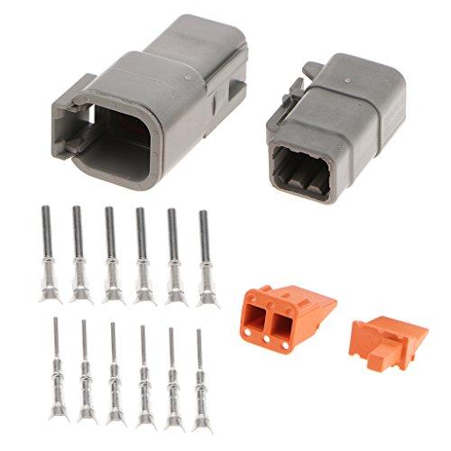 Homyl 1 Set Car Truck 6Pin Way Sealed Waterproof Wire Connector Plug Terminal Kit: