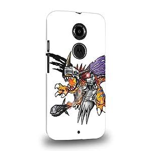 Case88 Premium Designs Digimon Adventure Augmon Greymon MetalGreymon WarGreymon 0937 Carcasa/Funda dura para el Motorola Moto X (2nd Gen.)