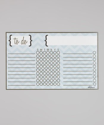 Chore Chart - Blue Chevron Stripe Kids Organization. by ala Board