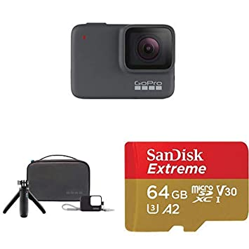 GoPro HERO7 Silver + Travel Kit + (1) microSD Card