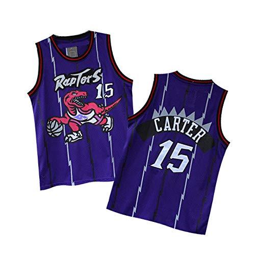 DadaokeY Carter Jerseys Basketball Athletics Jerseys Retro Jersey 15 Youth/Kids (Purple, L)