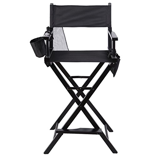 Chair Professional Makeup Artist Directors Hardwood Frame Light Foldable Black New Two Storage Side Bags Lacquer 3 Distinct Coats by na