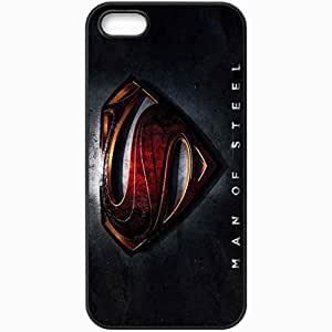 Personalized For Iphone 5C Phone Case Cover Skin Man Of Steel Superman Man Of Steel Logo Poster Film Black