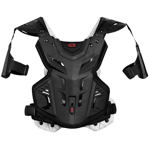 EVS F2 Modular Adult Roost Guard MotoX Motorcycle Body Armor - Black / Medium by EVS