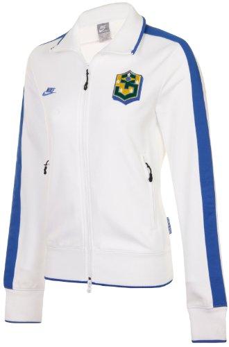 Nike Womens Brasil N98 Brazil Zip Up Track Top Jacket Size XS