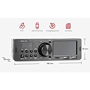 41MC3c1At7L. SS300  - ieGeek-Car-Radio-Bluetooth-Handsfree-Dual-LCD-Display-with-Clock-MW-and-FM-RDS-Radio-Data-System-Stereo-Car-Radio-30-Memory-Spaces-USBAUX-Input-MP3-FLACSD-Card