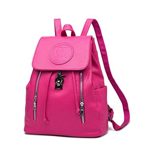 XibeiTrade - Bolso de Mochila niña Mujer rosa (b)
